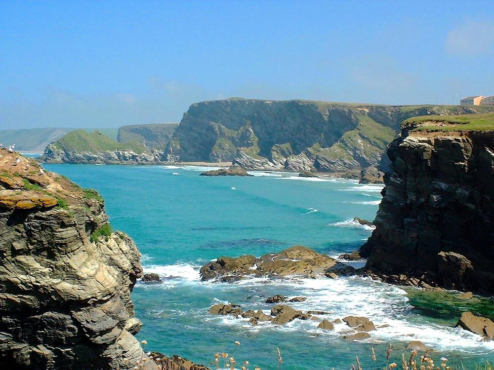 Cornish cliffs and coastline