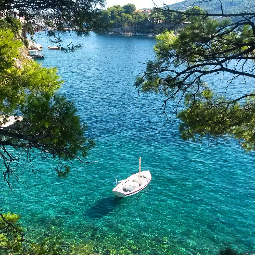 Skiathios crystal clear blue sea