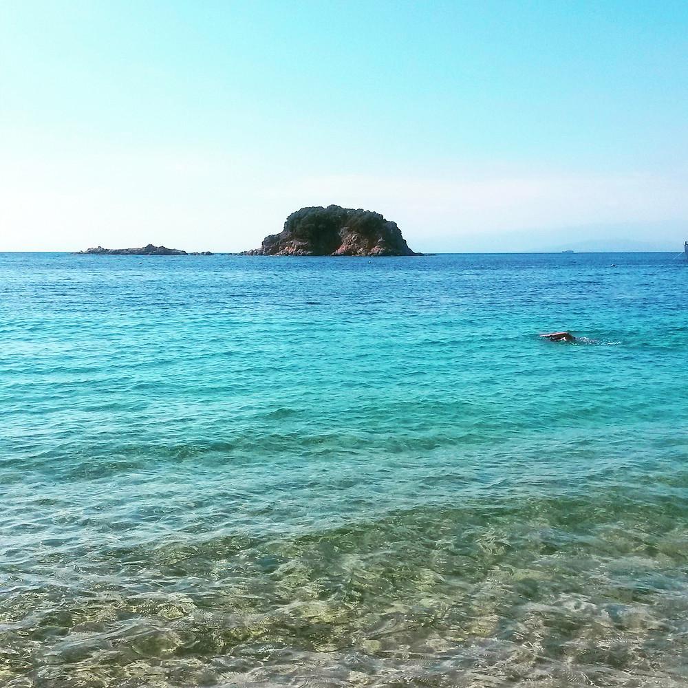 clear blue water, skiathos