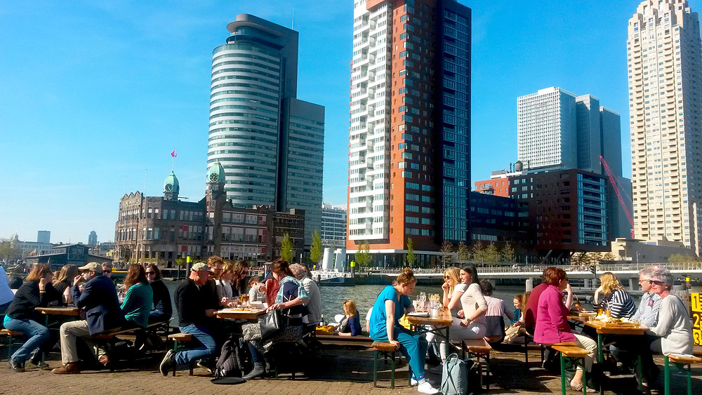 View of Rotterdam Skyline from Fenix Food Factory
