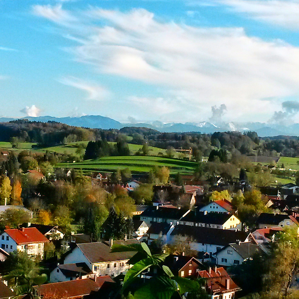 view from andechs monastery