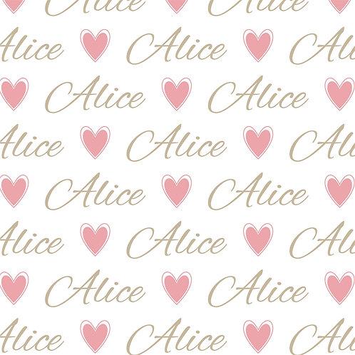 EXPRESS - Naninha Plush com Urso - Alice / Coração