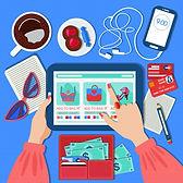 online-mobile-shopping-concept-flat-desi