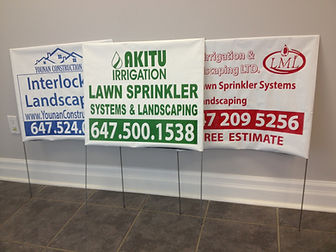 Lawn Bag Signs