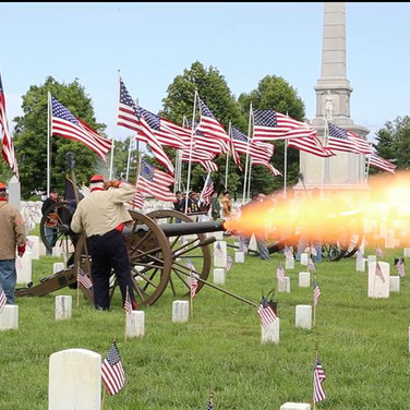 2015 Mound City National Cemetery Memorial Day Service--Cannon Salute.