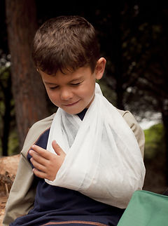 Child with arm in sling