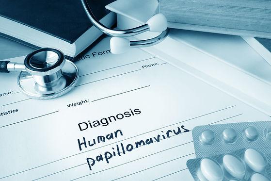 Diagnostic form with diagnosis Human pap
