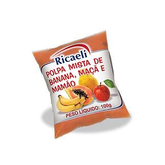 polpa mista vitamina banana maca e mamao