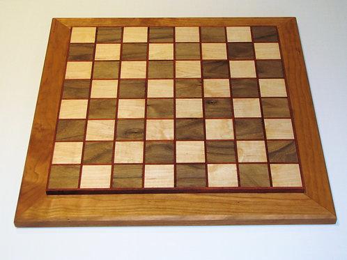 Handmade Wood Chessboard with Padauk Accents