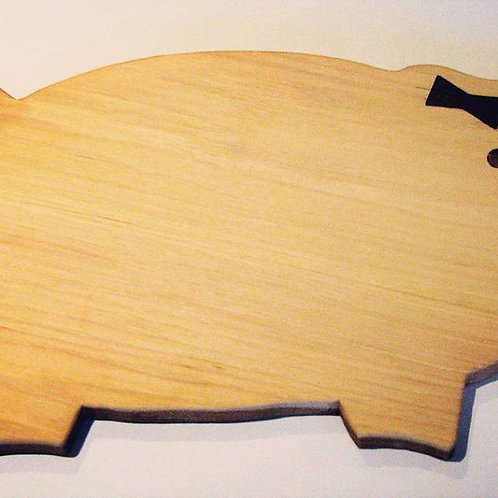 Hickory Pig Cutting Board