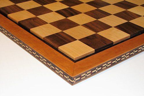 Handmade Wood Chessboard with Edge Inlay