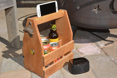 Beer Caddy with cell phone holder