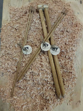 Aiguilles à tricoter chêne