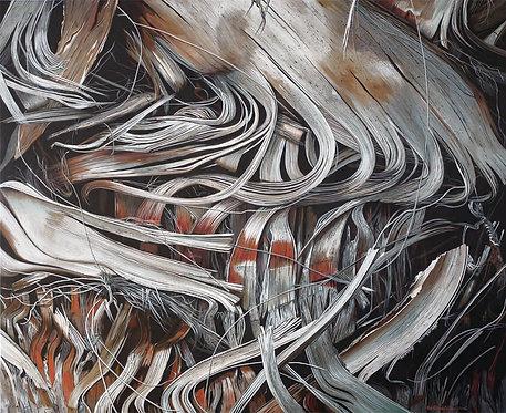 "Les Feuilles mortes (36X44""), 2016"