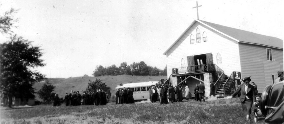 Kateri Shrine Dedication 1938 cropped.jpg