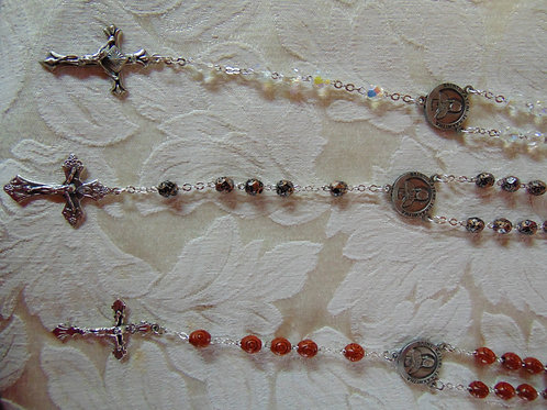 Saint Kateri Rosary with Colored Beads and Third-Class Relic