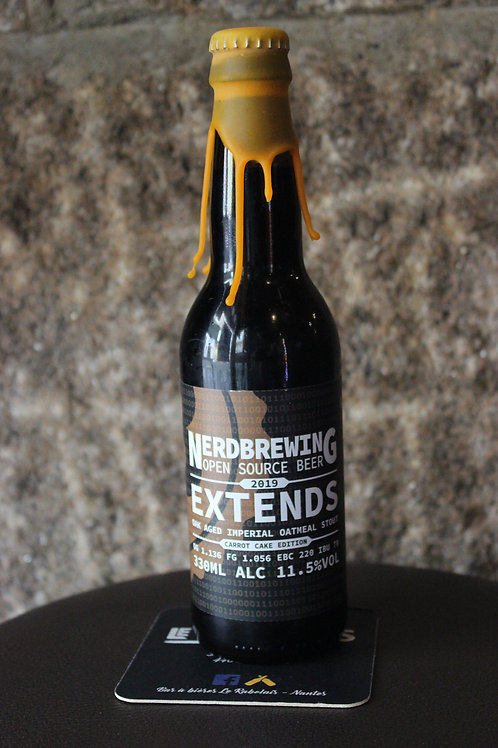 Extends Oak Aged Imperial Oatmeal Stout - Carrot Cake Ed  NERDBREWING  11.5% ABV