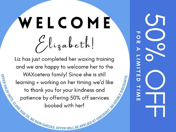 Welcome Elizabeth!