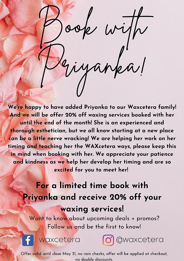 Welcome Priyanka!