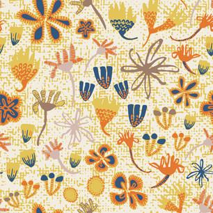 Stripey Daisy Field of Flowers Autumn