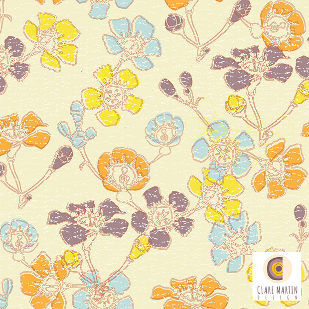 Geraldton Wax Spoonflower