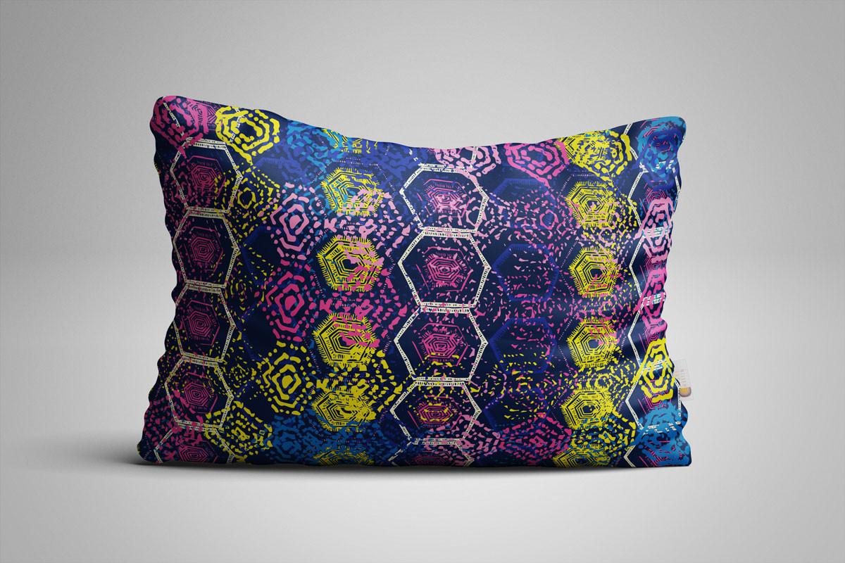 Blue-Hexagon-Explosion-Long-Pillow-Mocku