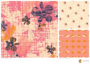 Cream Cross-Hatch-Flowers-collection