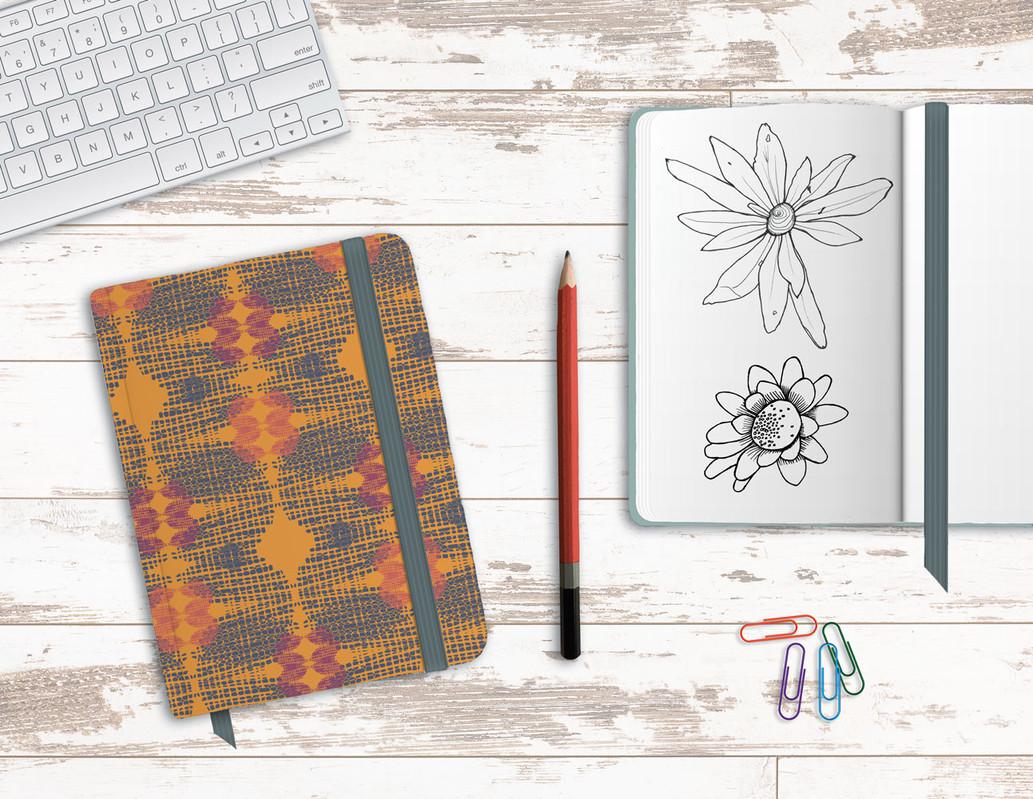 Tapestry - orange notebook