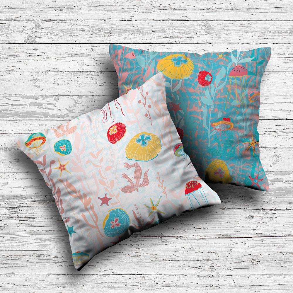 Jellyfish Garden cushions