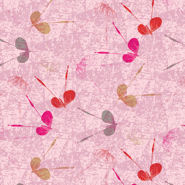 Long Butterfly Scatter Pink