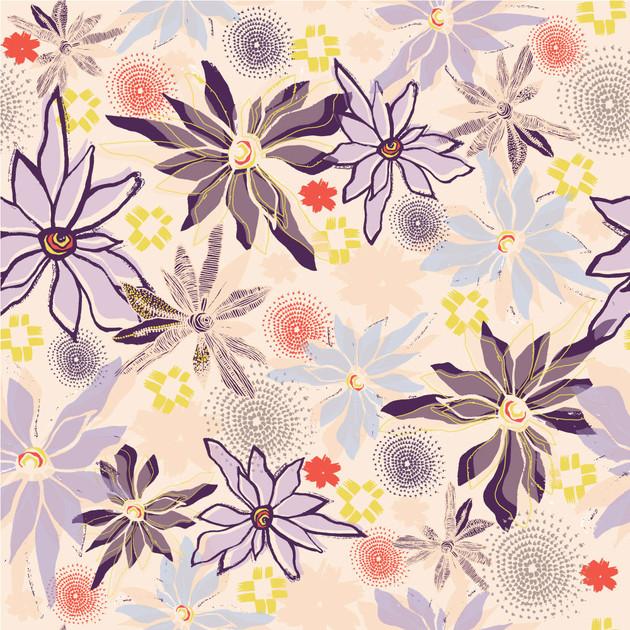 Higashi Floral Mauve