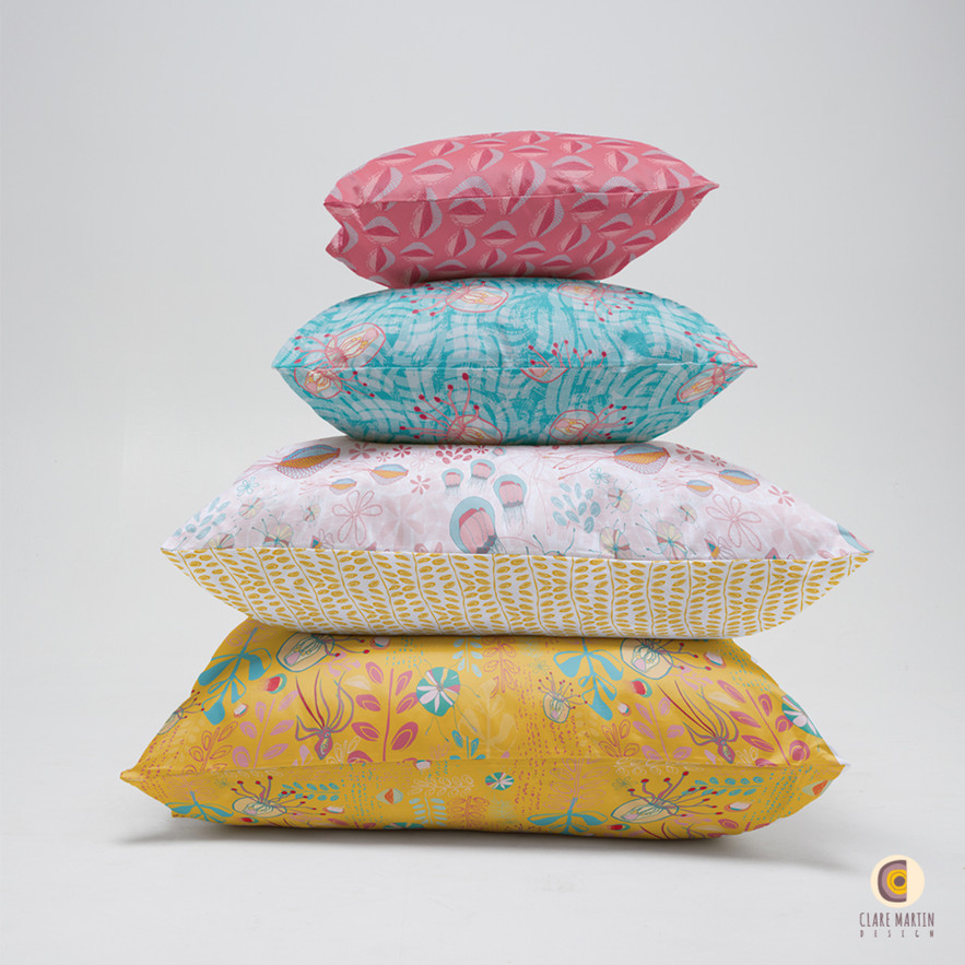 The Deep collection cushion stack