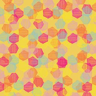 Bright Hexagon Confetti