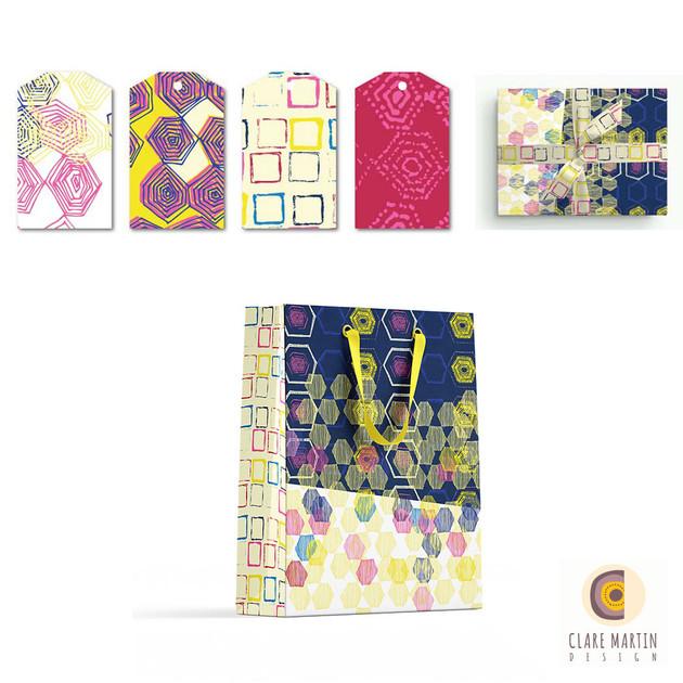 Mix + Mingle Indigo giftbag and gift tags