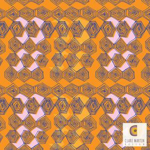 Orange African Hexagons