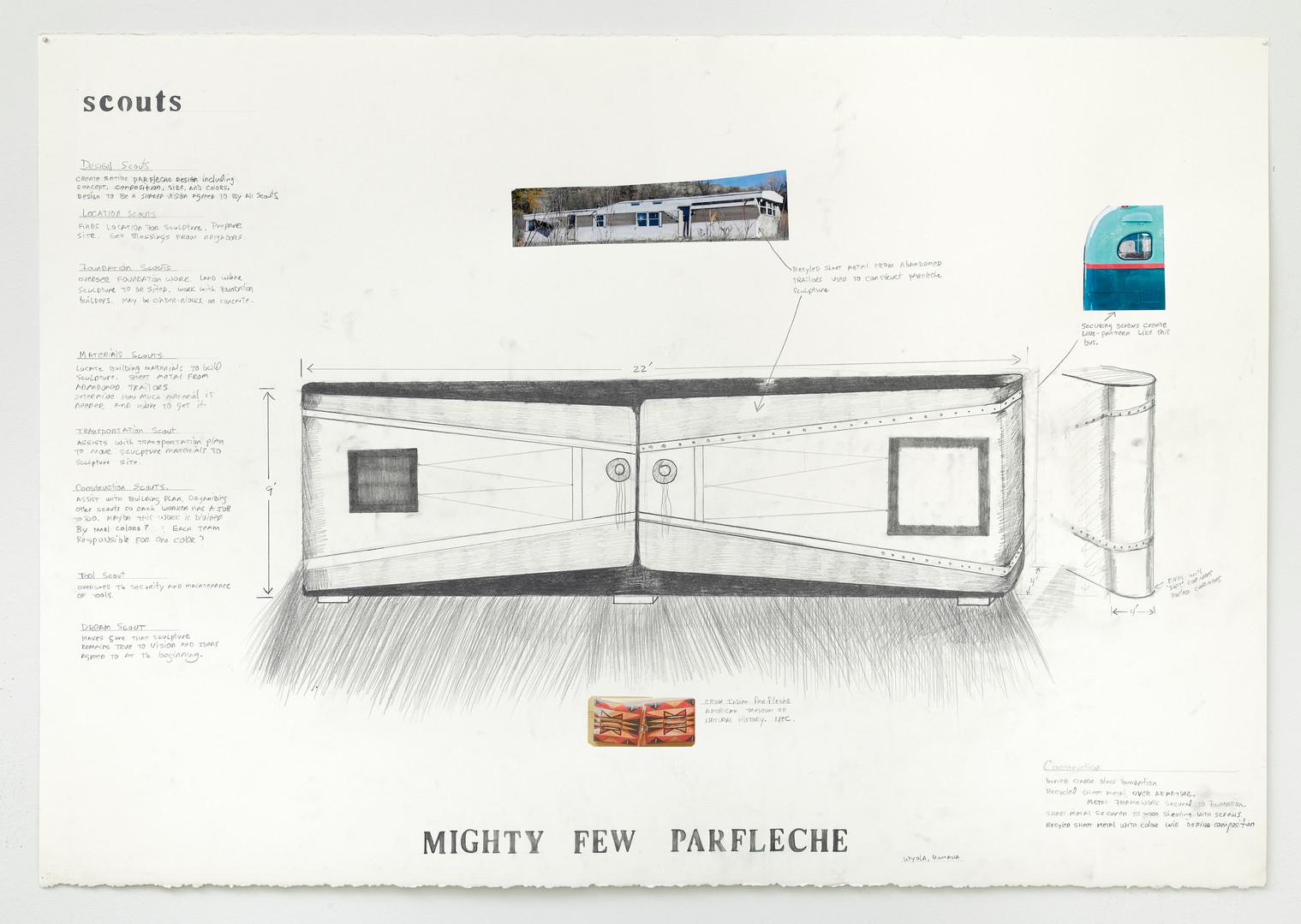 Mighty Few Parfleche, Work Drawing proposal