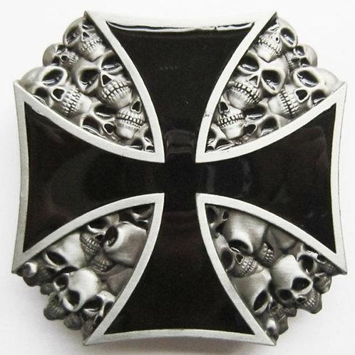 Heavy Metal Maltese Cross Belt Buckle