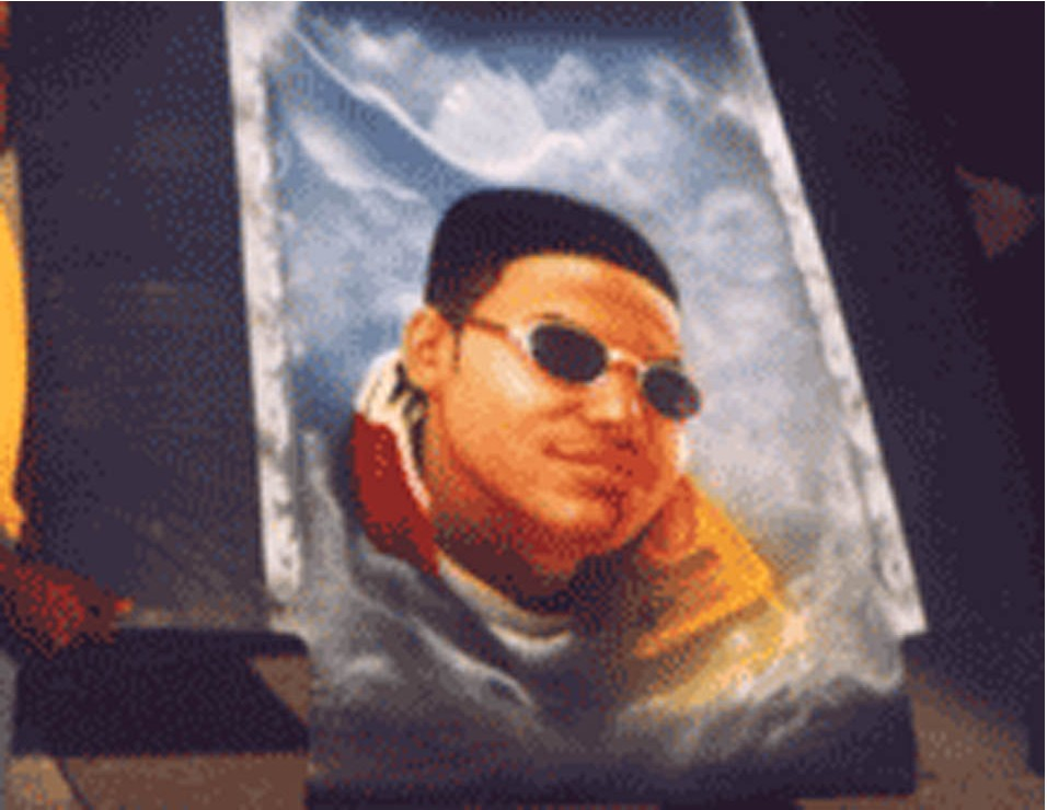 Car hood portrait