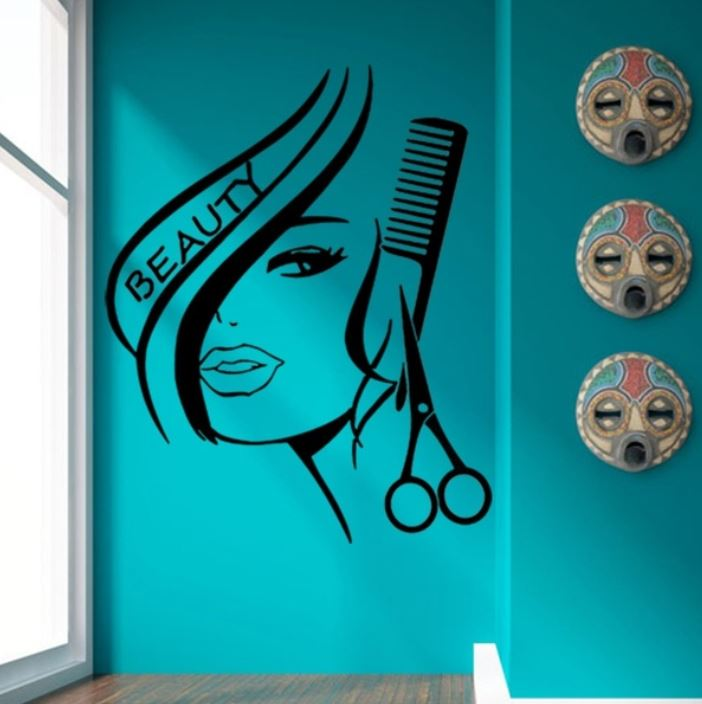 Wall Beauty Shop Mural1