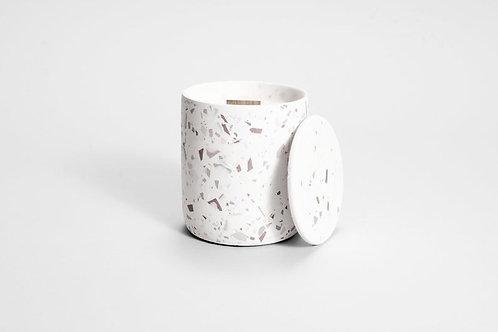 CANDELA pilko terazzo  betono kvapioji žvakė