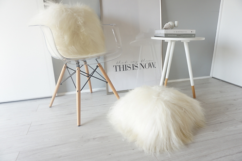 Natural Sheepskin White Cushion