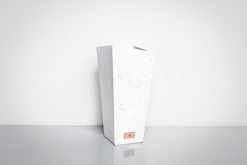 White Concrete Vase