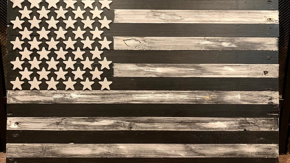 Small Black & Gray American Flag