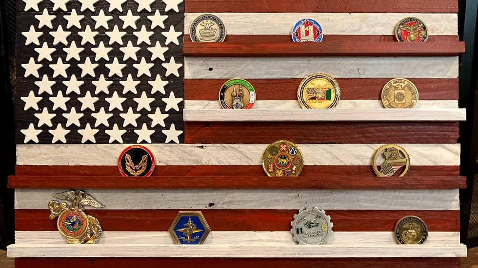 Custom Order Small Challenge Coin Flag
