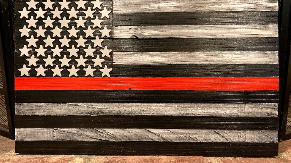 Big Firefighter Support Flag