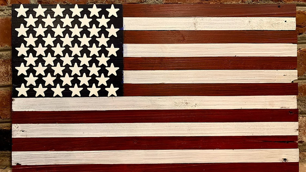 Small Dark Shade American Flag