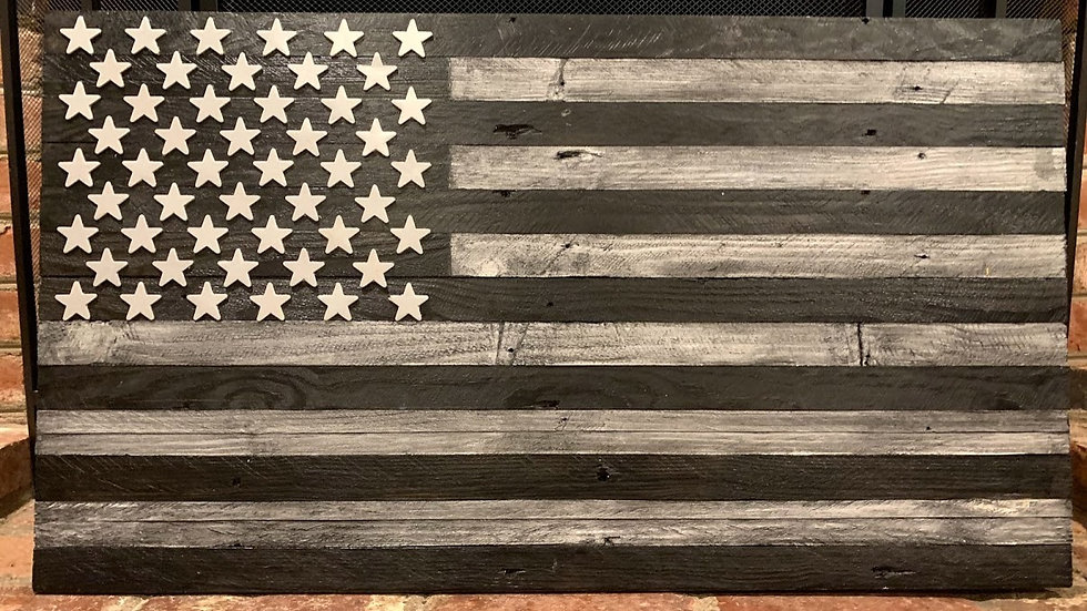 Big Black & Gray American Flag