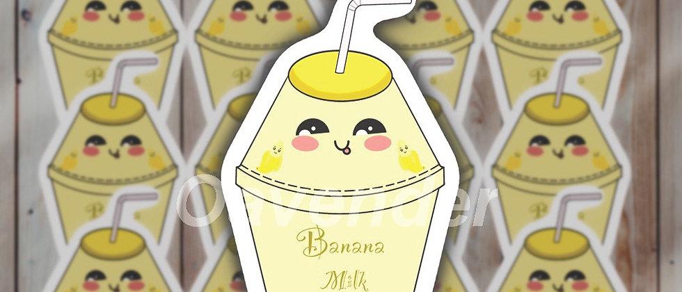 Banana Milk Vinyl Sticker