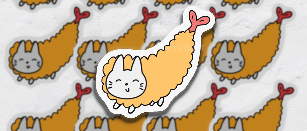 Fried Shrimp Tempura Vinyl Sticker