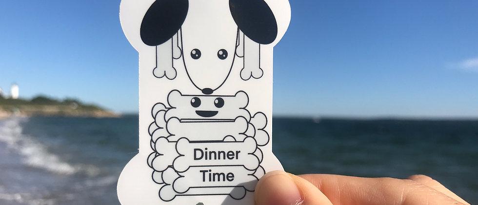 Feed My Dog Vinyl Sticker